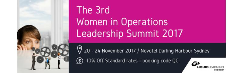 The 3rd Women in Operations Leadership Summit 2017